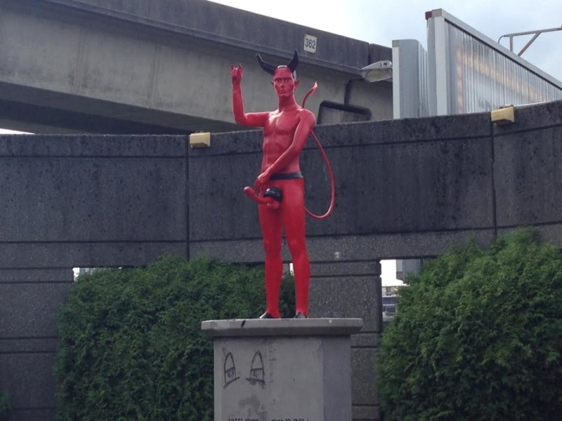 devil penis statue vancouver