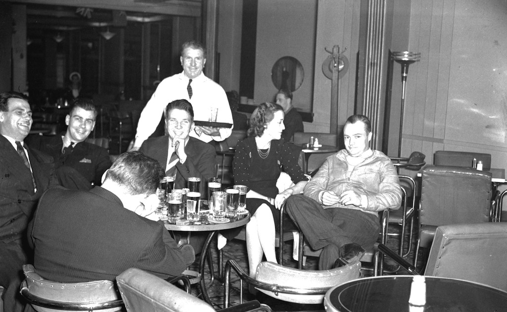 group-seated-beer-parlour