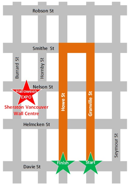 halloween parade route vancouver