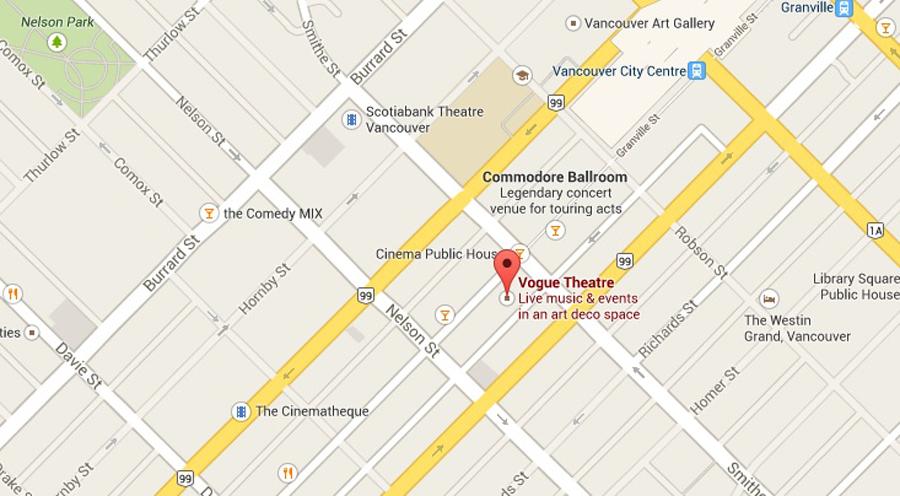 Venue location on Google Maps