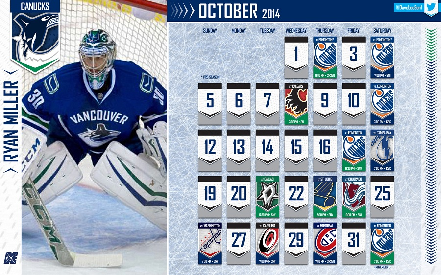 HTTN Canucks October Wallpaper