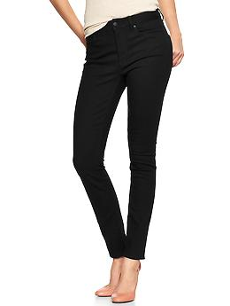 1969 high-rise skinny jeans - black