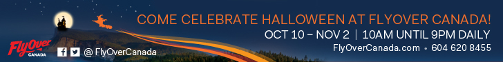 FlyOver Canada Halloween web banner