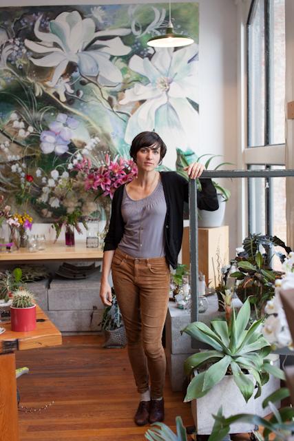 Megan Branson @ Olla Urban Flower Project (photo credit Daniel Rose)