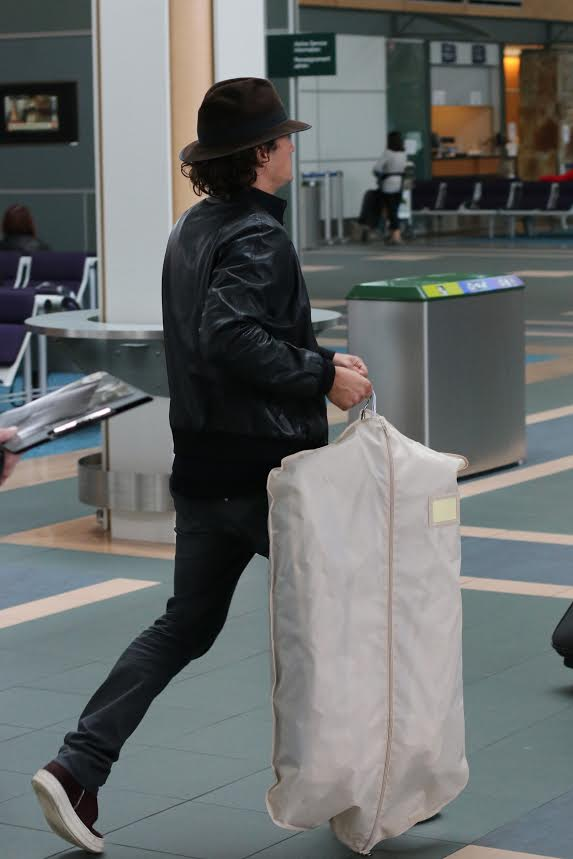 Orlando Bloom Vancouver Airport
