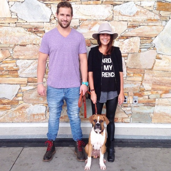 Justin, Jillian and Nacho getting ready to hit the road. (Jillian Harris)