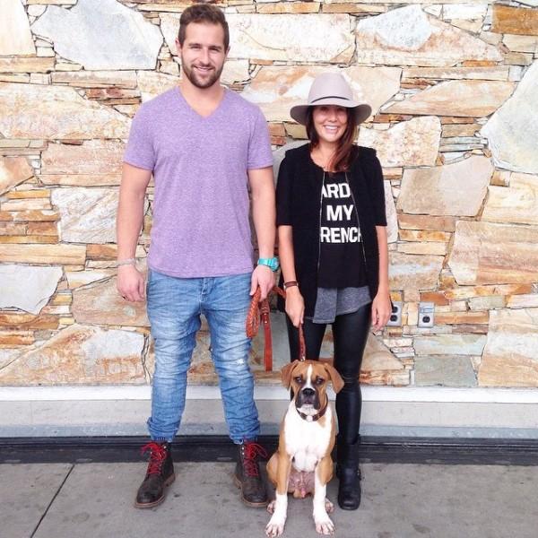 Justin, Jillian and Nacho getting ready to hit the road. (Jillian Harris)