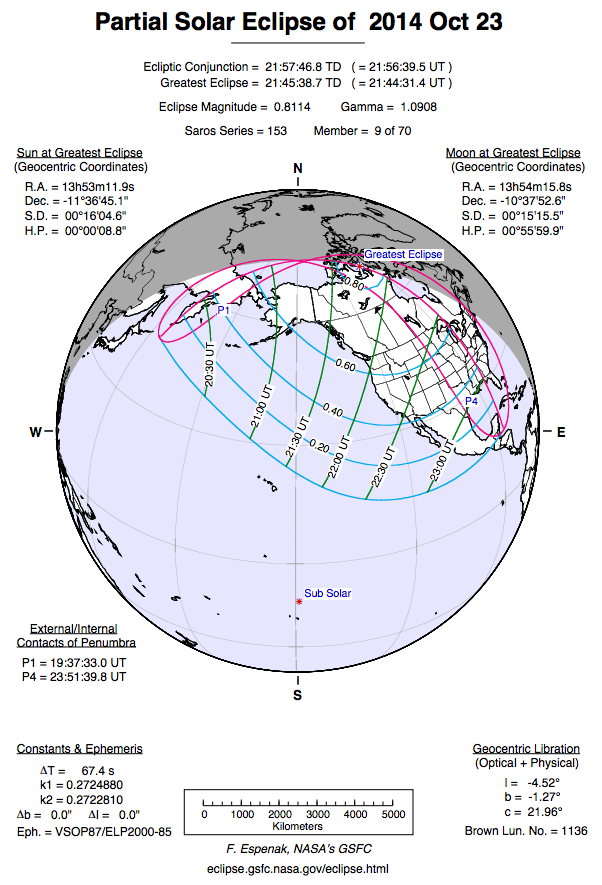 solar eclipse october 23 2014