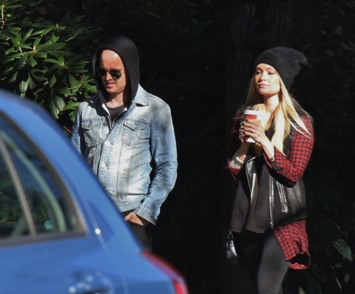 Aaron Paul Vancouver with Wife
