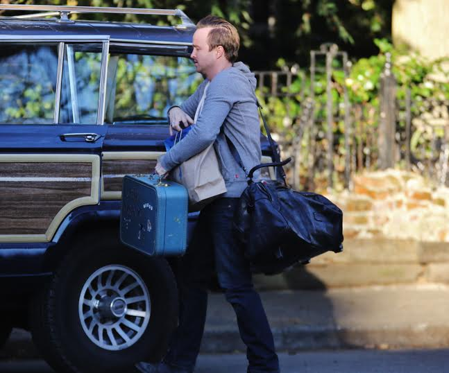 Aaron Paul on set