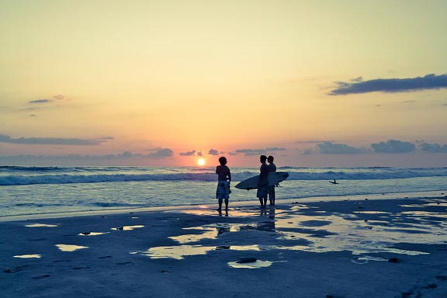 Costa Rica sunset surf