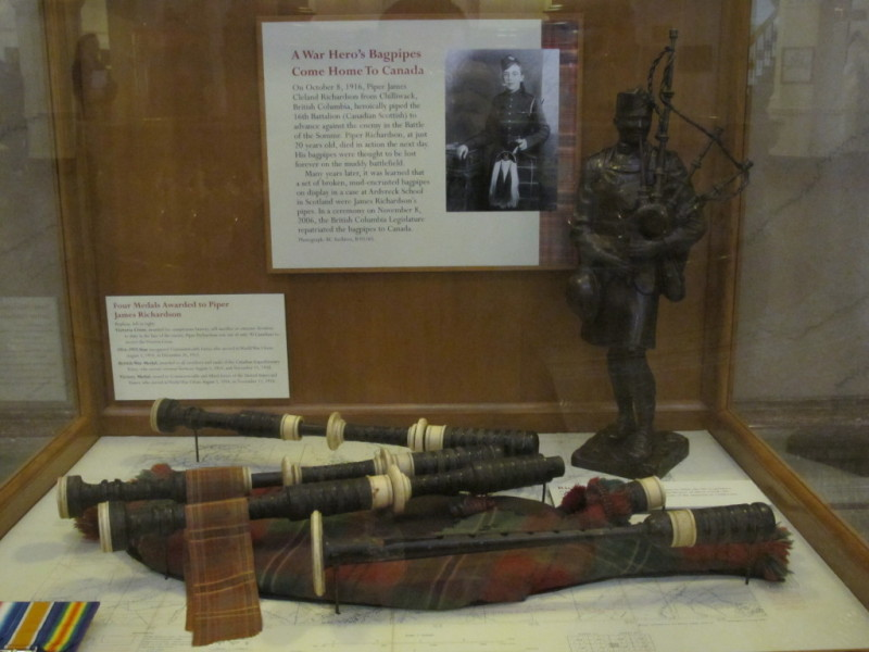James Cleland Richardson's bagpipes