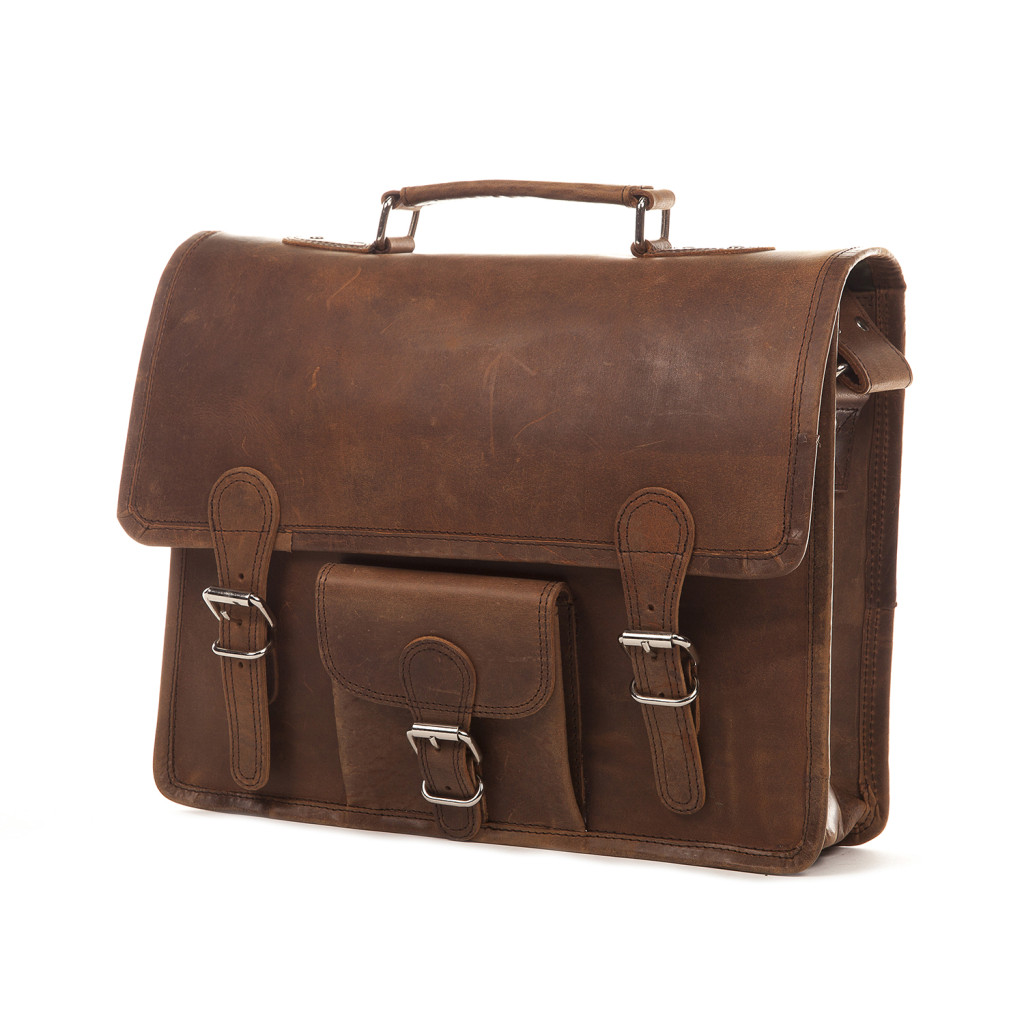 Kent Street Apparel -- Cordova Distressed Leather Satchel
