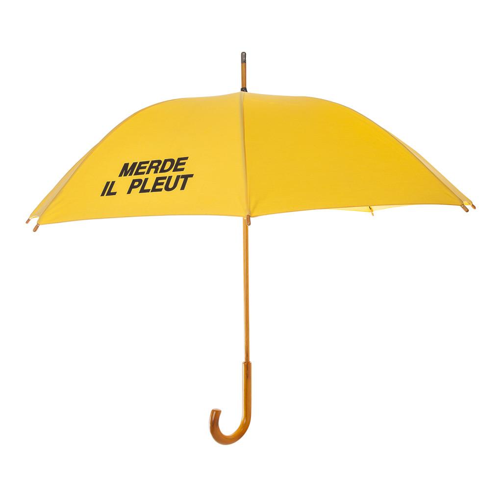 Kent Street Apparel - MERDE IL PLEUT yellow umbrella