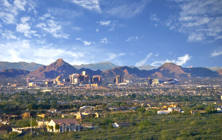 Phoenix in the Spring. Shot from South Mountain.