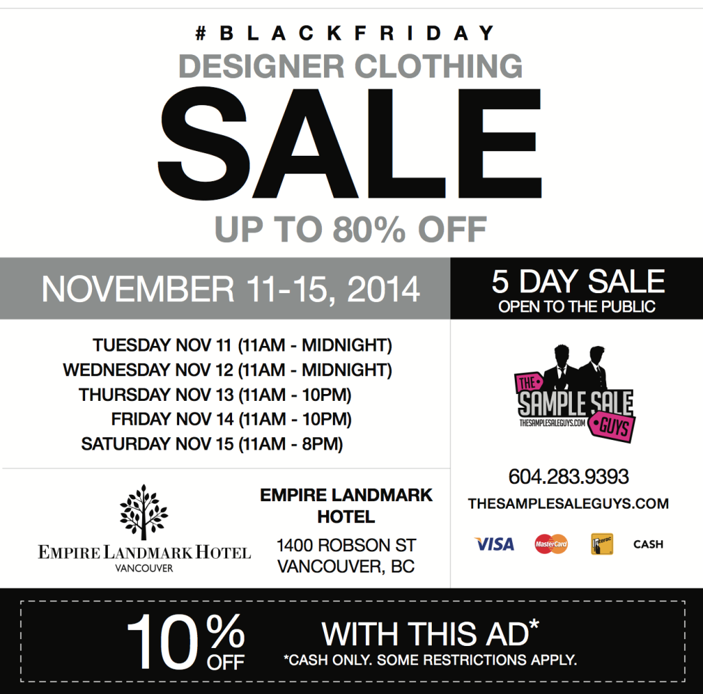 black friday sample sale 2014