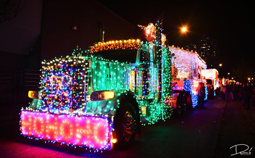 Christmas lights trucks