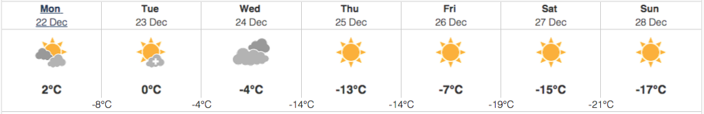 edmonton weather december 22 2014