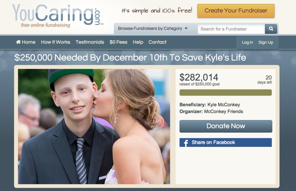kyle mcconkey leukemia real crowdfunding