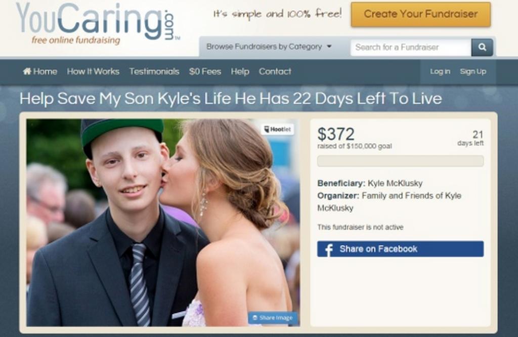 kyle mcconkey leukemia tsawwassen fake crowdfunding