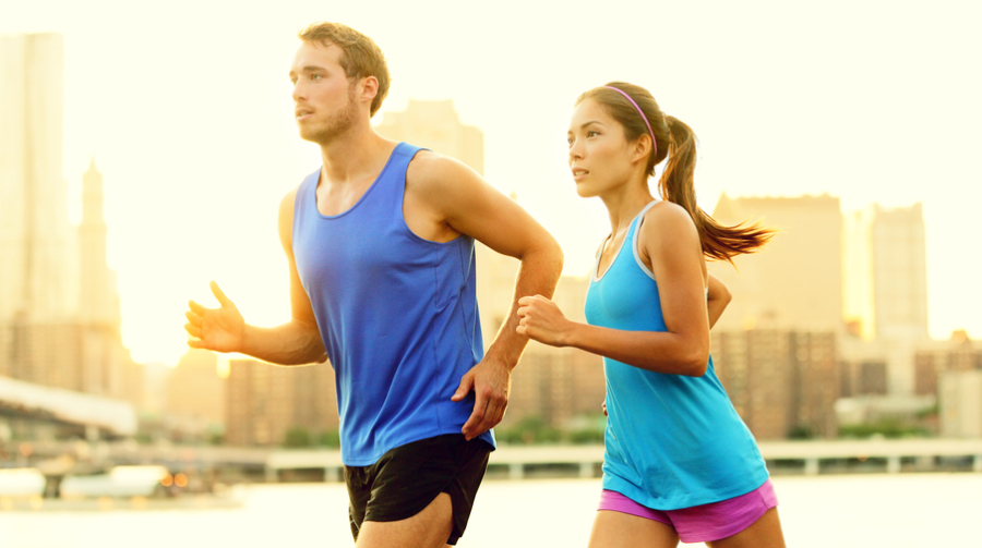 Couple running via Shutterstock
