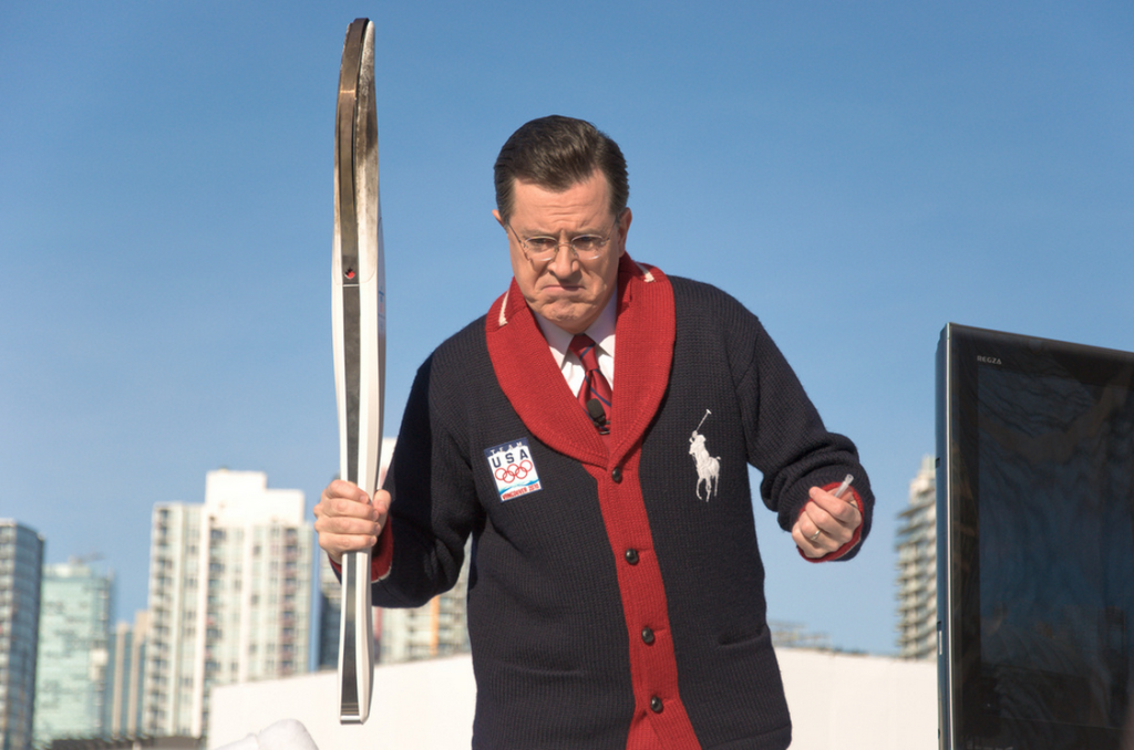 stephen colbert vancouver olympics torch