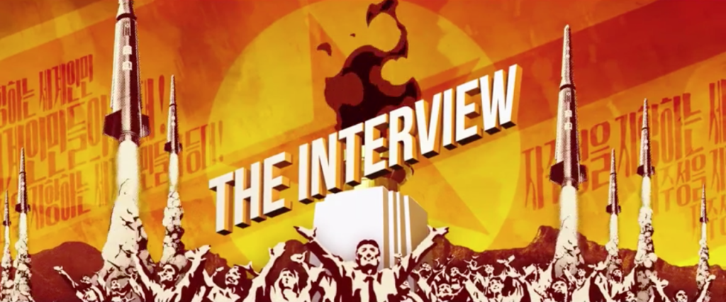 the interview end title north korea