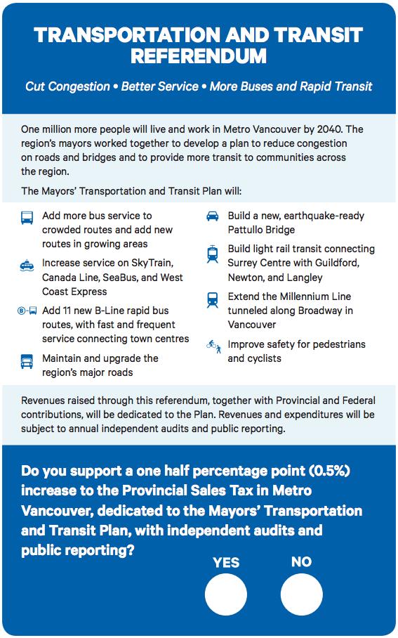 transit referendum metro vancouver ballot