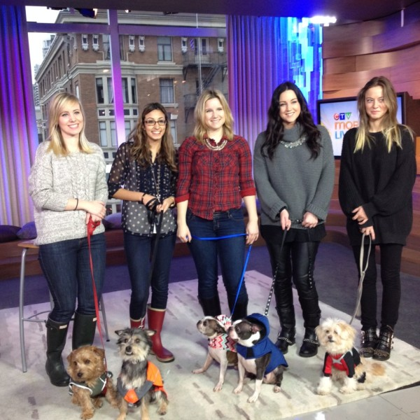 The fabulous women of CTV Morning Live with the prima Donna doggie coat models (Ann Luu)