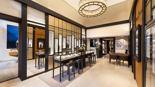 Jaeger LeCoultre watchmakers  boutique Interior