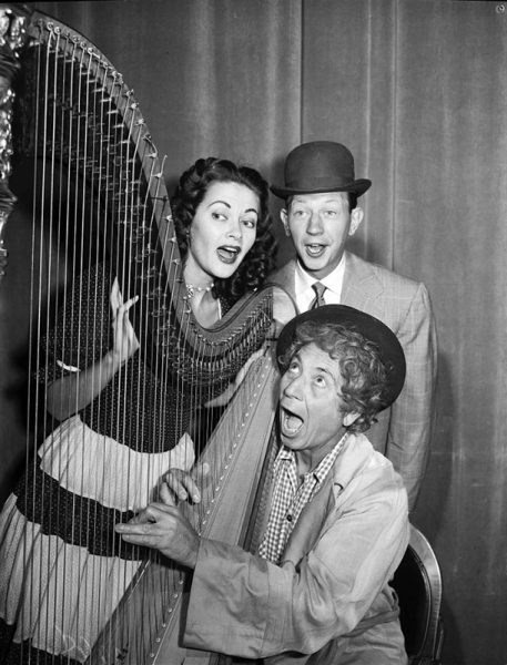 Yvonne De Carlo with the Marx Brothers on NBC TV Colgate Comedy Hour - Nov 7, 1951