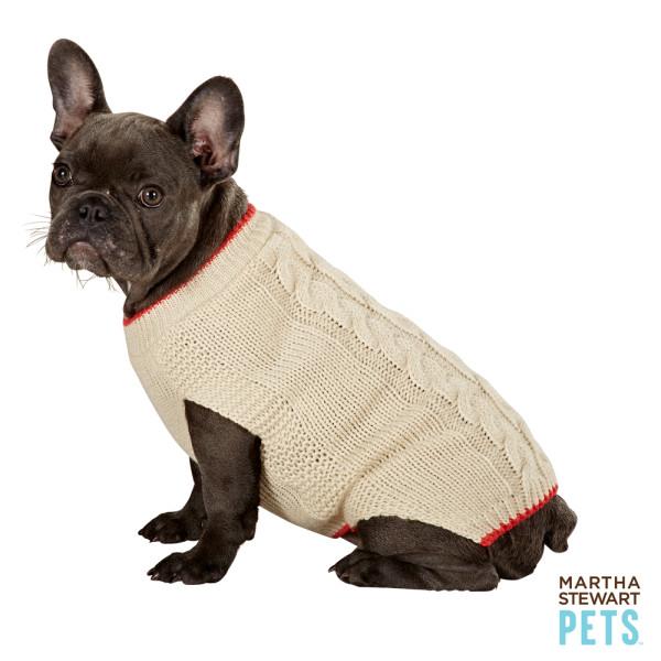 Martha Stewart Pets Cable Knit Dog Sweater (PetSmart)