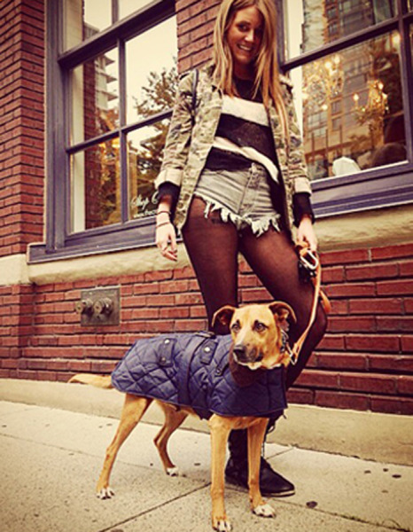 The quilted navy Commuter Coat from Yaletown's Barking Babies boutique.