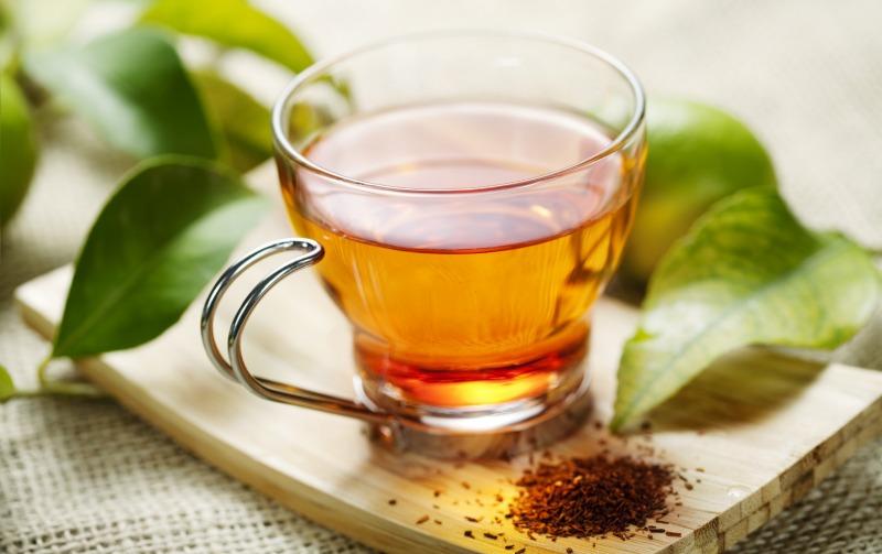 closeup of rooibos tea, shallow dof