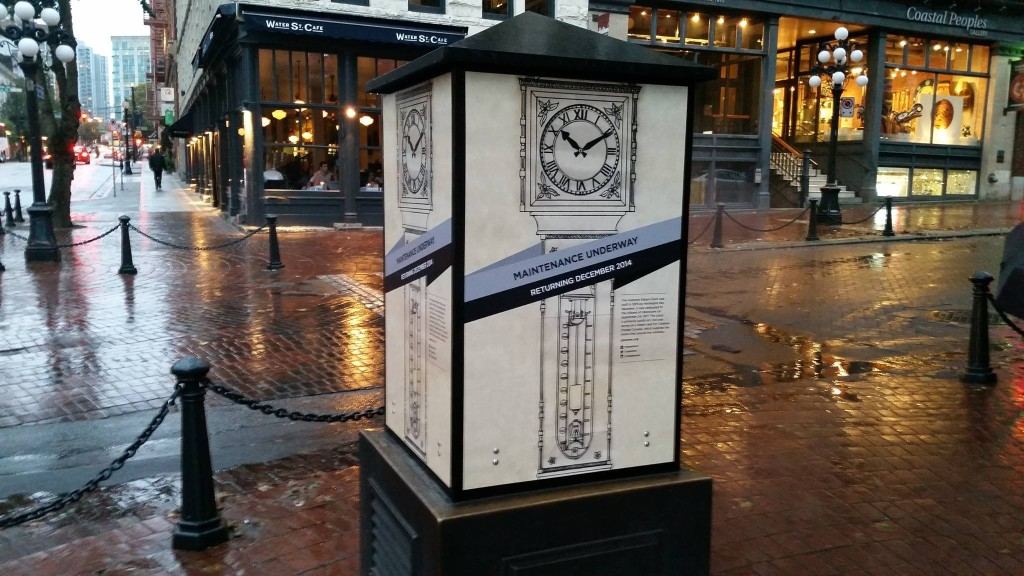 gastown steam clock cardboard