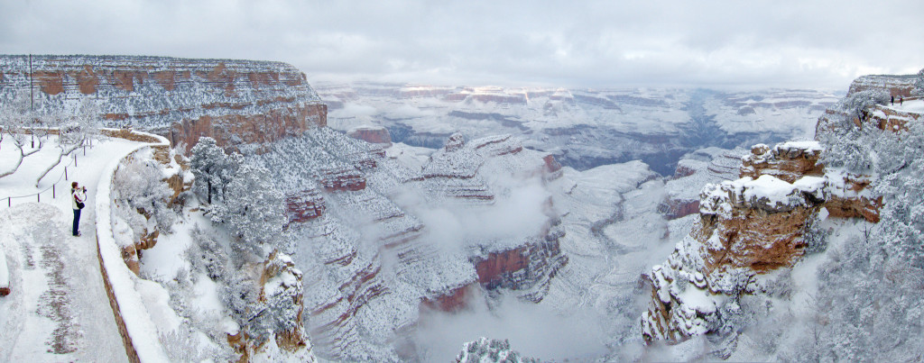 grand canyon snow panorama