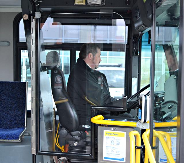 Translink bus driver barrier