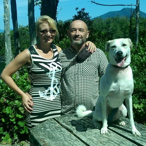 Rick Dellow and his rescue dog. (R&B)