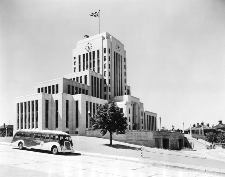 City Hall, 1937, via Vancouver Archives.