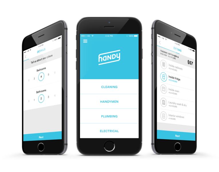 The Handy iPhone 6 app. (Handy)