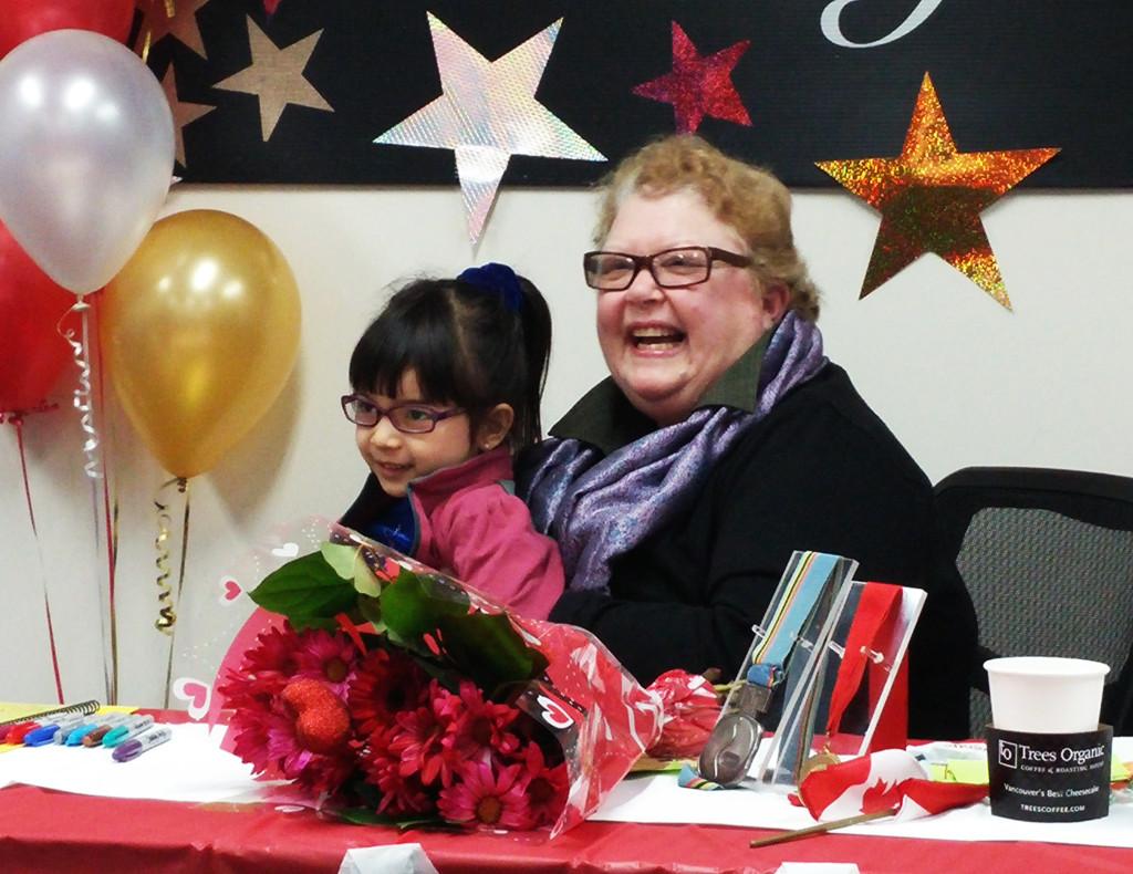 Karen Magnussen with Little Girl