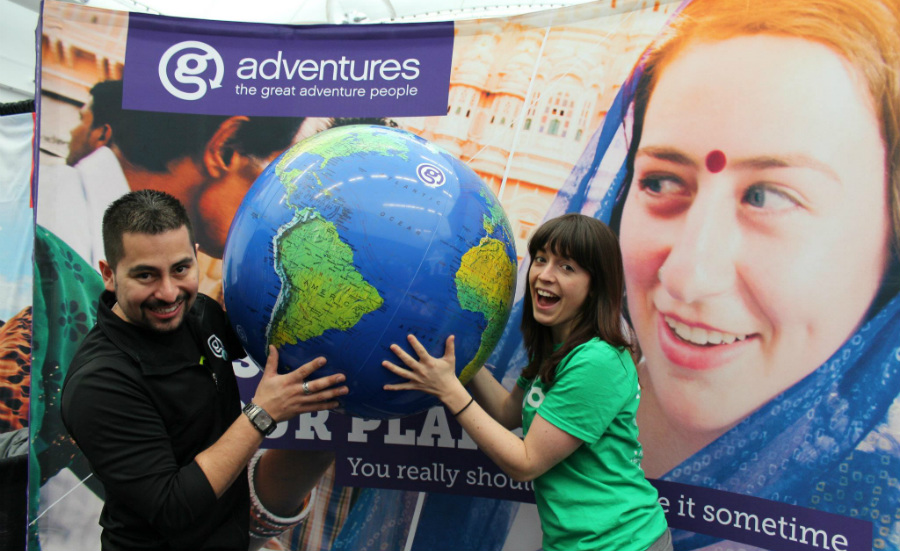gadventures globe at YVR Expo