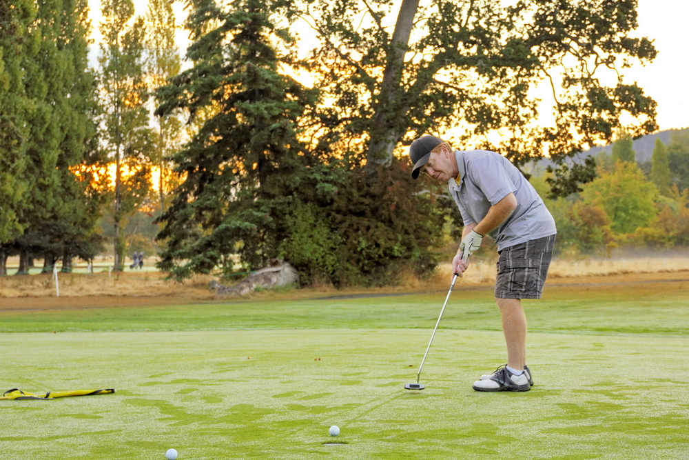 golf-sunset
