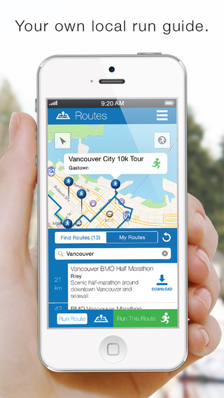 A screenshot of the RunGo app.