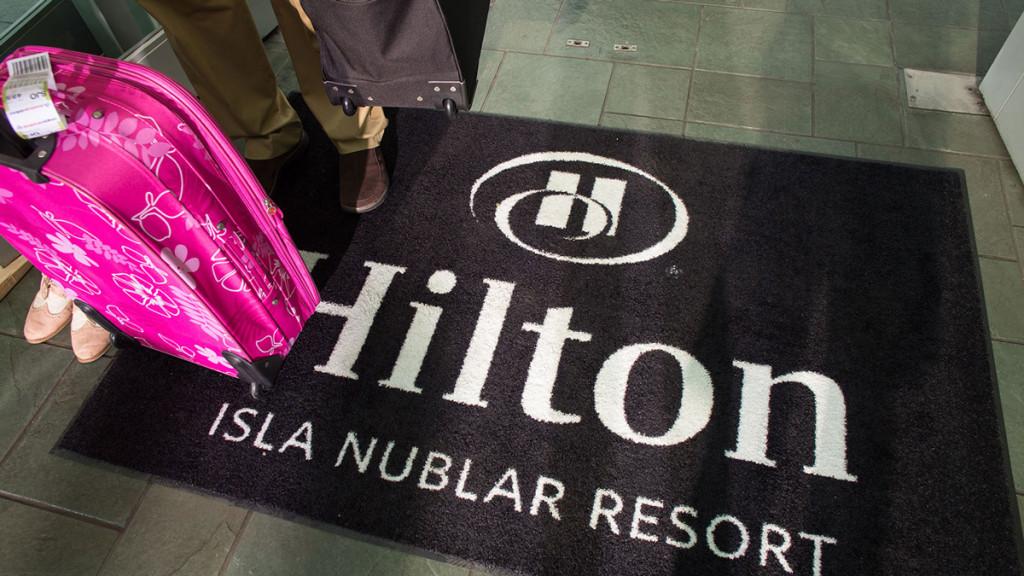 hilton isla nublar resort welcome mat