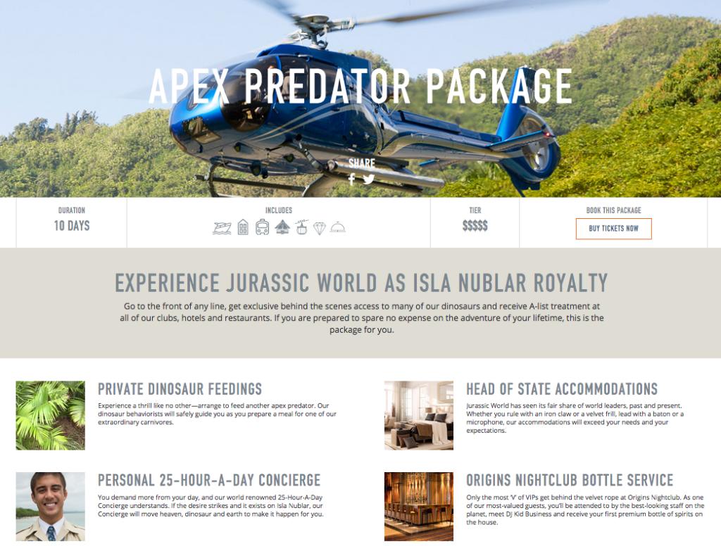 jurassic world apex predator package 2