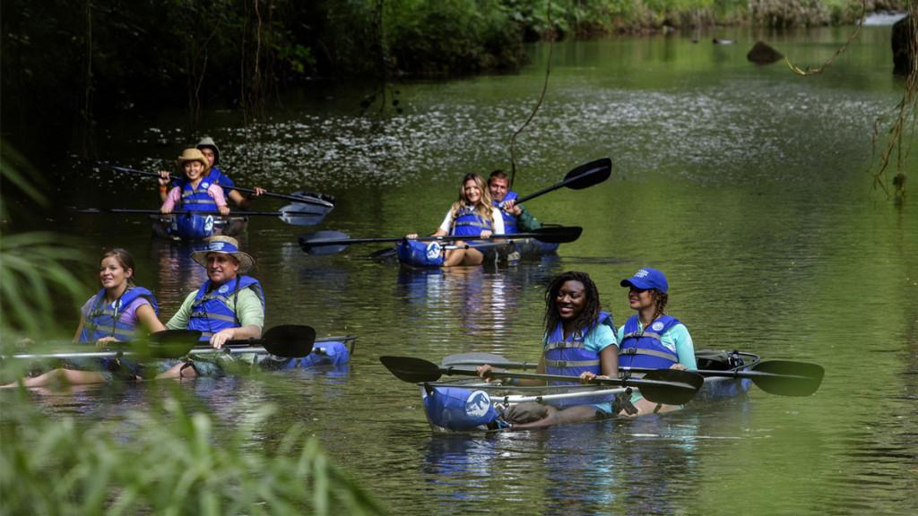 jurassic world cruise kayakers