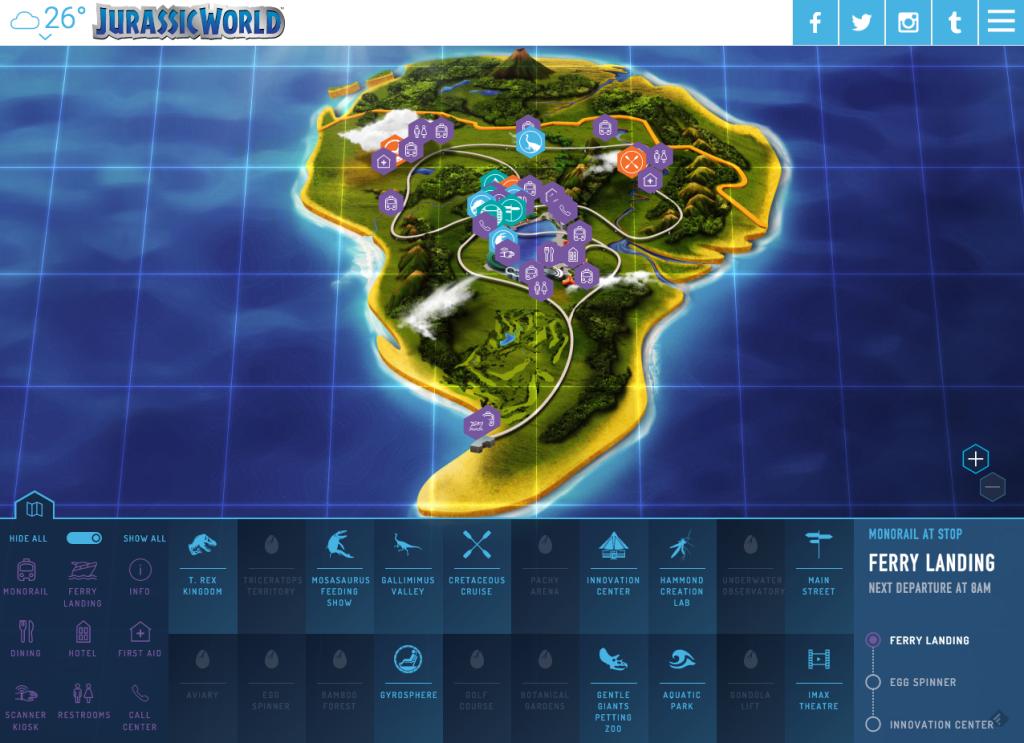 jurassic world park map