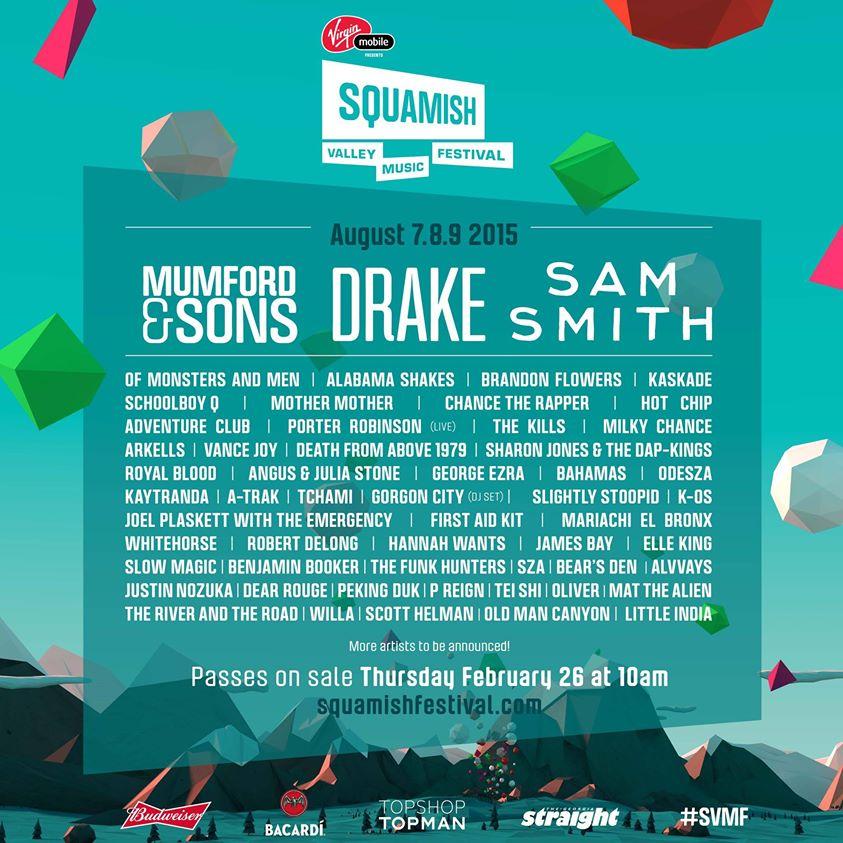 squamish festival 2015 lineup