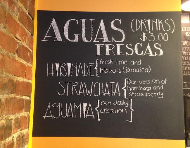 Aguas Frescas menu (Lindsay William-Ross/Vancity Buzz)